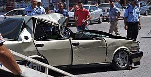 Gülşehir'de Meydana Gelen Kazada Facia Ucuz Atlatıldı. Detaylı Fotoğraflar