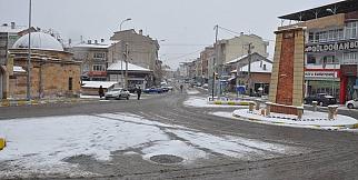 Gülşehir'den kar manzaraları
