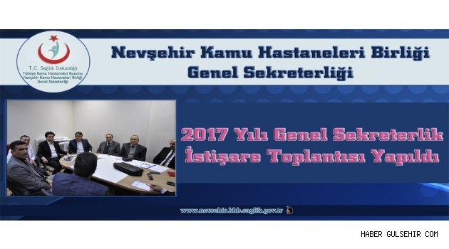 2017 Yılı Genel Sekreterlik İstişare Toplantısı Yapıldı