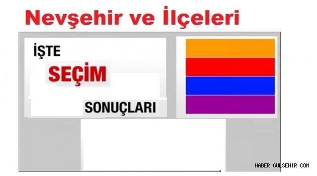 24 Haziran; Nevşehir ve İlçeleri Seçim Sonuçları.