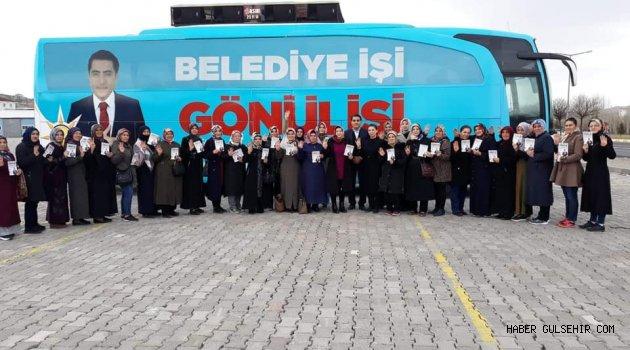 Ak Parti Gülşehir Kadın Kolları Seçim Çalışmalarına Devam Ediyor.
