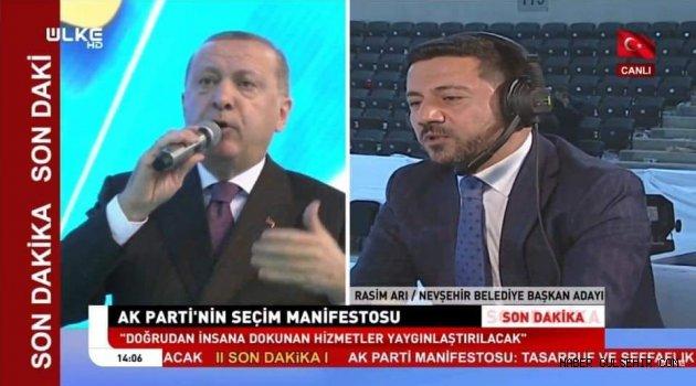 AK Parti Nevşehir Belediye Başkan Adayı Rasim Arı, ÜLKE TV'nin konuğu oldu