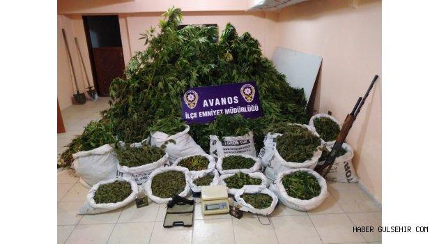 Avanos'ta Torbalar Dolusu Uyuşturucu Ele Geçirildi.
