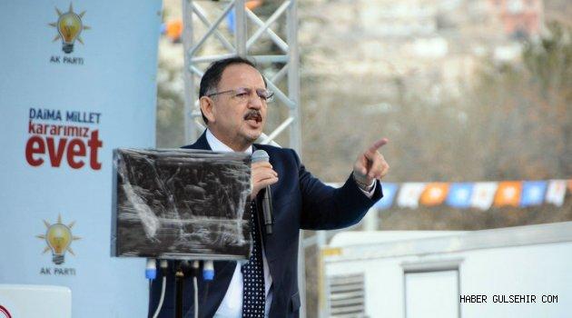 Bakan Özhaseki, Nevşehir İl Danışma Meclisi Toplantısına Katılacak.
