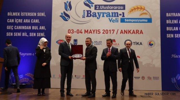 Başbakan Yardımcısı KURTULMUŞ'tan AK Parti Nevşehir Milletvekili AÇIKGÖZ' e Teşekkür Plaketi