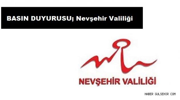 BASIN DUYURUSU; Nevşehir Valiliği