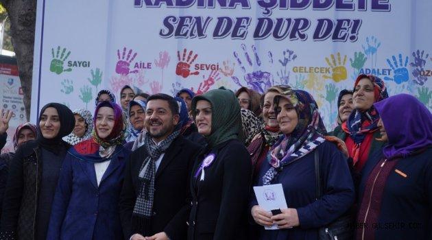 BAŞKAN ARI, NEVŞEHİRLİ KADINLARLA BİRLİKTE ŞİDDETE 'DUR' DEDİ