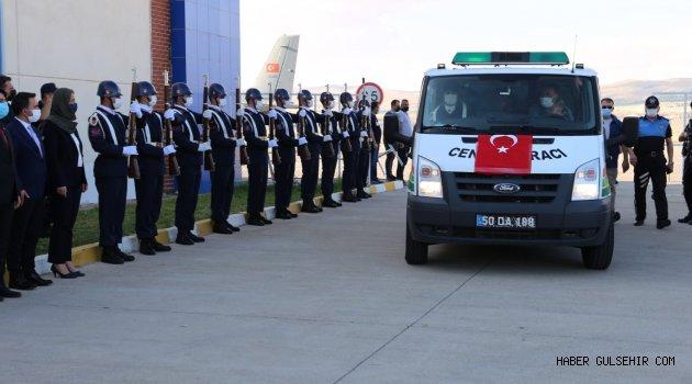 Derinkuyulu Şehit Çiftçibaşı'nın Cenazesi Nevşehir'e Getirildi.