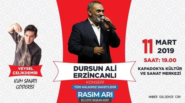 Dursun Ali Erzincanlı, Rasim Arı İçin Nevşehir'de...
