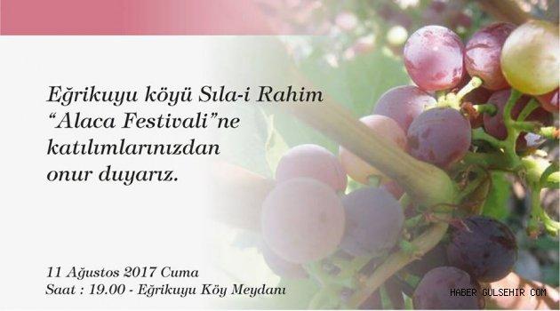 Eğrikuyu köyü'nde 1. Sıla-i Rahim - Alaca Festivali Düzenlenecek.