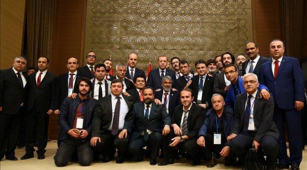 Erdoğan, Anadolu Yayıncılar Derneği üyeleri ile bir araya geldi