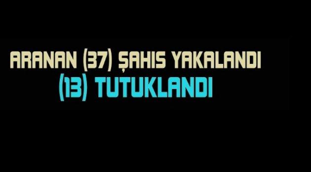 Gülşehir, Avanos, Kozaklı, Acıgöl, Derinkuyu, Ürgüp; Aranan 37 Kişi Yakalandı.