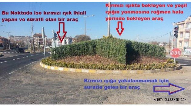 Gülşehir'de Yapılan Orta Refüj Çalışması Halkın Can ve Mal Güvenliğini Tehdit ediyor.