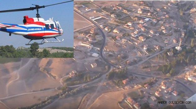 Gülşehir, Hacıbektaş, Kozaklı, Avanos, ilçelerinde Helikopterli Trafik Denetimi