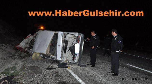 Gülşehir - Hacıbektaş Yolu 2. km de Trafik Kazası! SON DAKİKA
