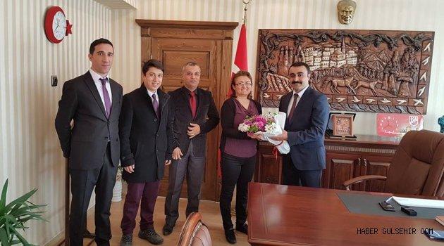 Gülşehir Mal Müdürlüğü Personellerinden Kaymakam Tekin'e Ziyaret.