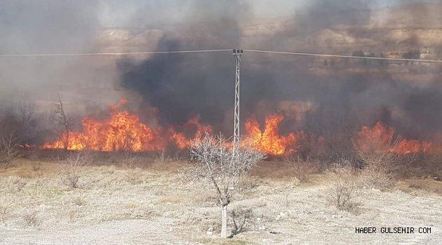 Gülşehir'de Çıkan Yangın, Korkuya Neden Oldu!