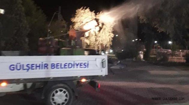 Gülşehir'de Haşere ve Sineklere Karşı İlaçlama Çalışması Yapılıyor