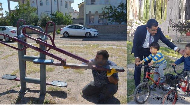 Gülşehir'de Parklar Onarılıyor