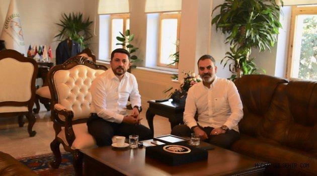 KAPTİD BAŞKANI DİNLER'DEN BELEDİYE BAŞKANI ARI'YA ZİYARET
