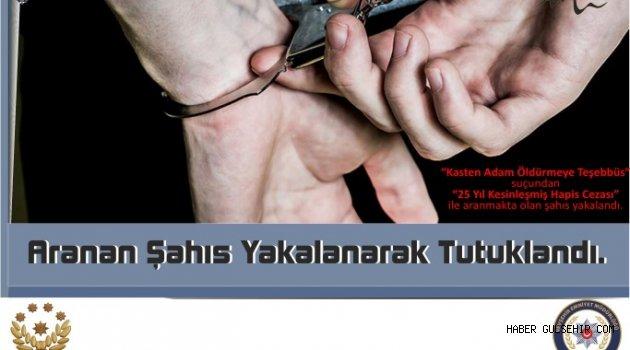 ''Kasten Adam Öldürmeye Teşebbüs'' suçundan 1 Kişi Tutuklandı.