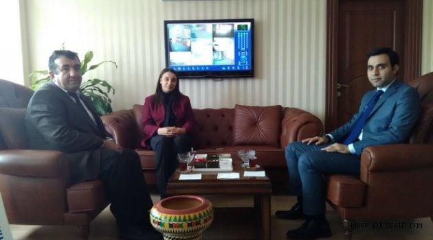 Kırşehir İl Özel İdare Genel Sekreteri ve Kültür&Turizm Müdüründen Kaymakam Baytok'a ziyaret