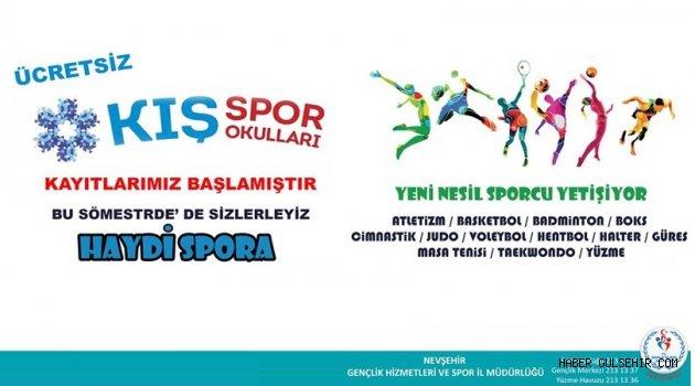 Kış Spor Okulları Sizlerle.