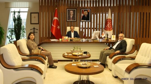 Cumhurbaşkanlığı Sosyal Politikalar Kurulu Üyesi Yılmaz'dan Rektör Bağlı'ya Ziyaret