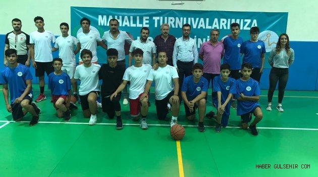 Mahalleler arası basketbol turnuvası başladı