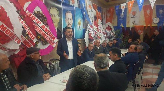 Milletvekili Açıkgöz'den Gülşehir Seçim Bürosuna Çat Kapı Ziyaret.
