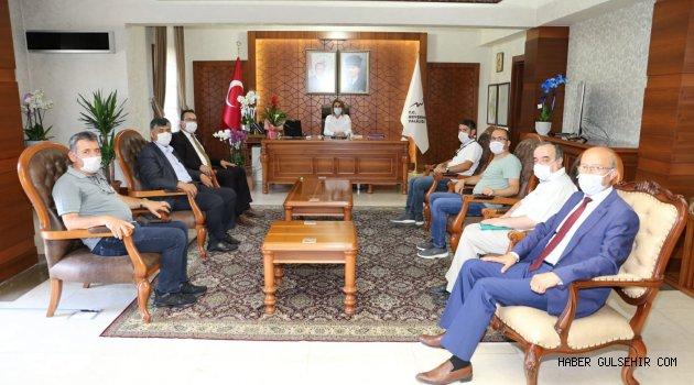 Nevşehir Gazeteciler Cemiyeti'nden Vali Becel'e ziyaret