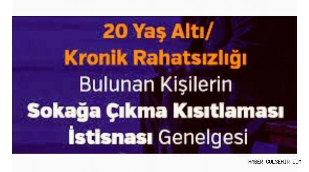 Nevşehir Valiliğinden 20 Yaş Altı Vatandaşlar/Kişilerin Sokağa Çıkma Kısıtlaması Açıklaması.