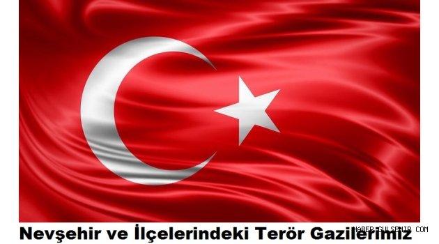 Nevşehir ve İlçelerindeki Terör Gazilerimizin İsim Listesi.