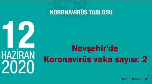 Nevşehir'de Bugünki Koronavirüs vaka sayısı: 2
