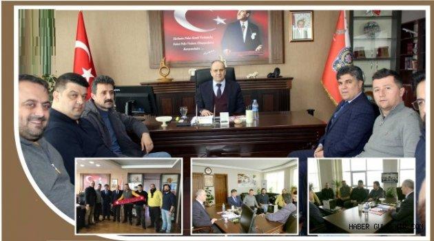 Nevşehirspor Kellecililer taraftar grubundan Emniyet Müdürü Artunay'a ziyaret.
