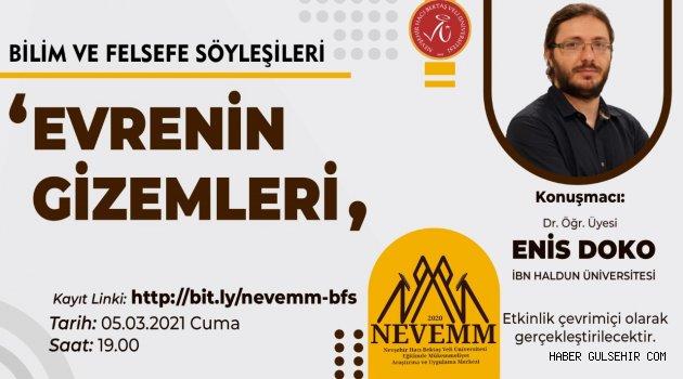"""NEVÜ NEVEMM'den """"Bilim ve Felsefe Söyleşileri"""" Serisi"""