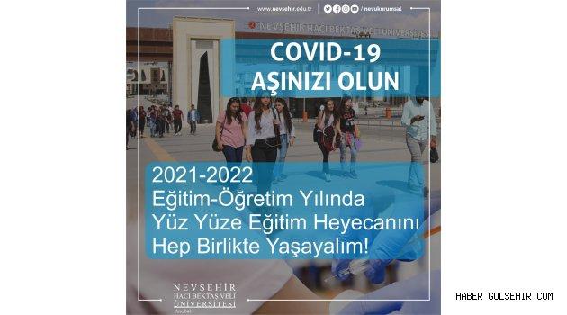 NEVÜ Rektörü Aktekin'den Öğrencilere Aşı Yaptırın Çağrısı
