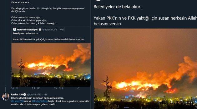 ORMAN YANGINLARINI ÇIKARAN PKK'YA TEPKİ HATAY'A BİR TIR FİDANLA DESTEK