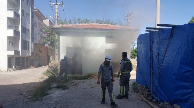 Trafo Yangını Korkuya Neden Olurken; Polis Şeritli Güvenlik Önlemlerini Uygulamadı