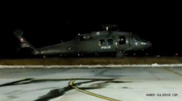 Polis Helikopteri Kalp Krizi Geçiren Hasta İçin Havalandı