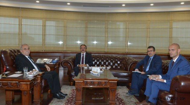 Rektör Bağlı, Bakan Fakıbaba ile Görüştü