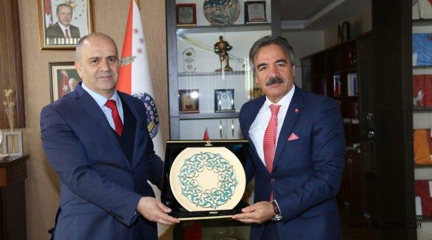 Rektör Bağlı'dan Nevşehir İl Emniyet Müdürü Artunay'a 174. Yıl Kutlama Ziyareti
