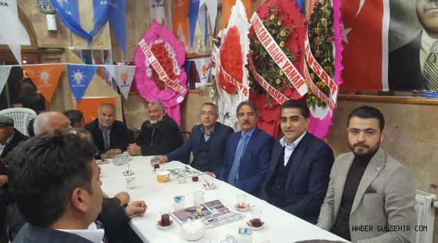 Rektör Bağlı'dan Ak Parti Adayı Çiftçi'ye Destek Ziyareti.