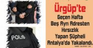 Beş Ayrı Adresten Hırsızlık Yapan Şahıs Antalya'da Yakalandı.