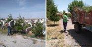 Gülşehir Belediyesi Bayram Öncesi Mezarlık Temizliğini Tamamladı