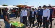 Kaymakam Kavanoz, Başkan Çiftçi ve Beraberindekiler İlçe Pazar Yerini Denetlediler