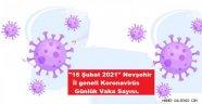 """""""15 Şubat 2021"""" Nevşehir İl geneli Koronavirüs Günlük Vaka Sayısı."""