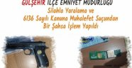 Gülşehir'de Silahla Yaralama ve 6136 Sayılı Kanuna Muhalefet Suçundan Bir Kişiye İşlem Yapıldı.