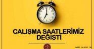 Nevşehir İl Genelinde; ''Esnek Çalışma Saatleri'' Değişti.