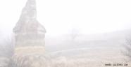Nevşehir Göreme'de Peribacalarını Sis Kapattı